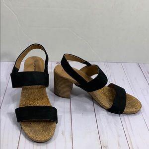 Lucky Brand Jobina block heel cork sandals